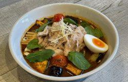 エスニックポークジンジャーと春野菜のスープカレー